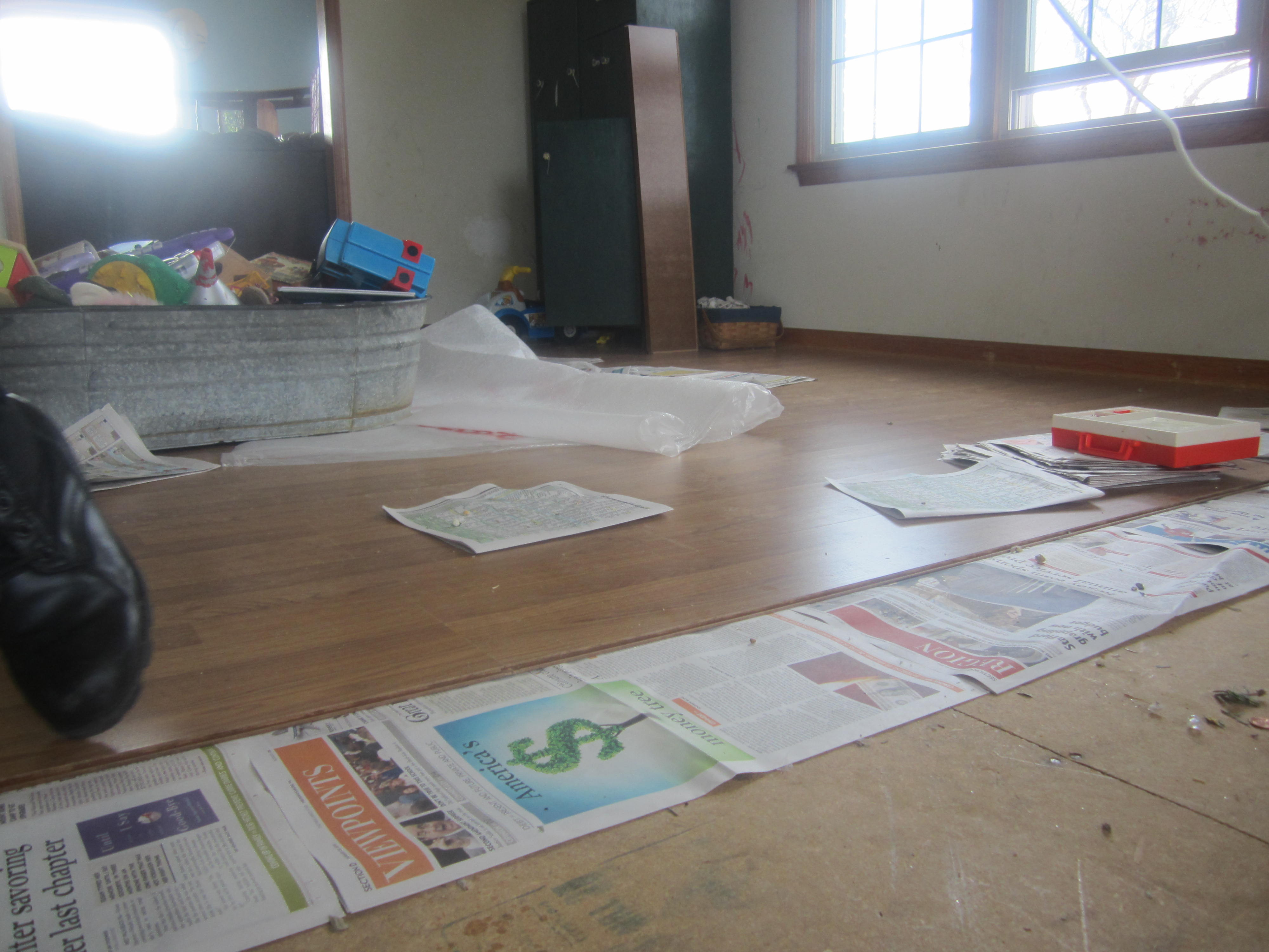 the and each flooring we hardwood it four row underlayment tag cardboard for already on under then laminate top of page laid slid with img section a this floor circus repeated raising floors
